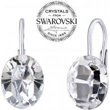 Silvego strieborné náušnice so Swarovski Crystals ovál SILVEGOVSW071 280b7fd774b
