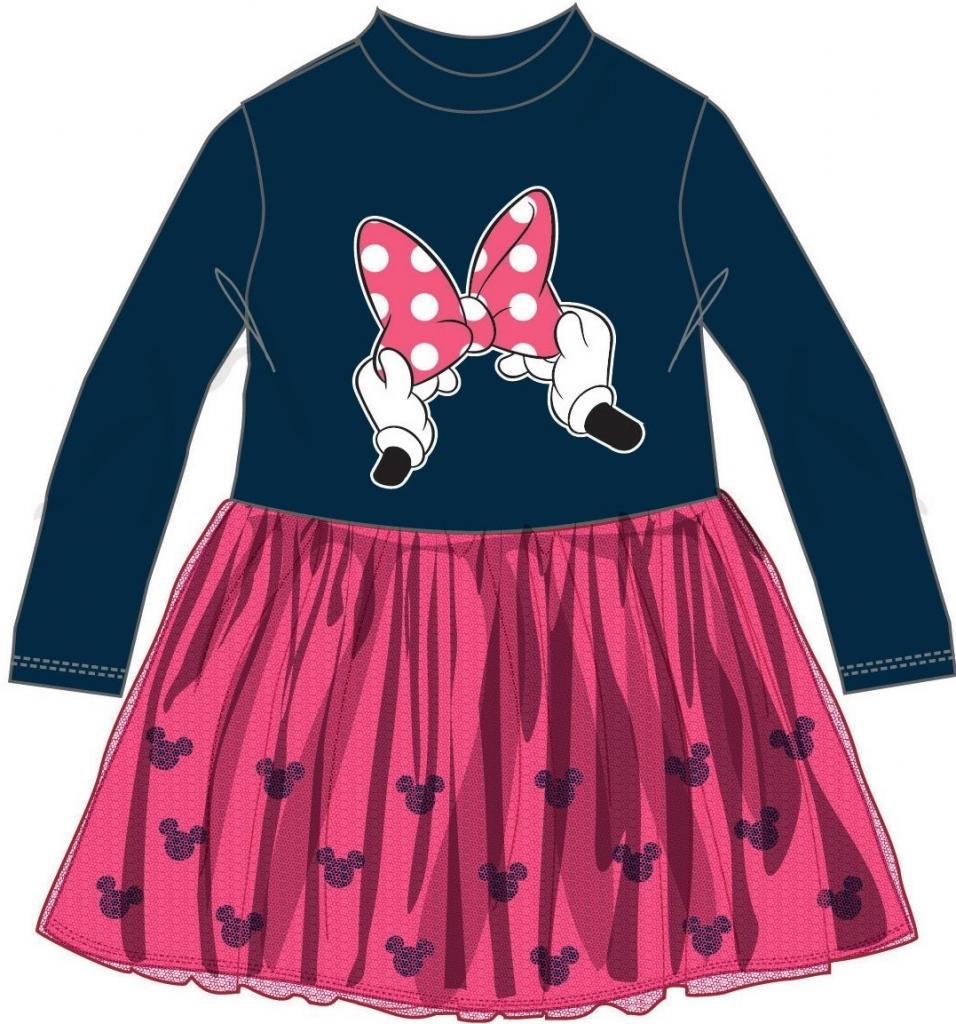Disney by Arnetta Dievčenské šaty Minnie modro-ružové - Zoznamtovaru.sk 8ee91fe824b