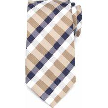 Pánska klasická kravata z mikrovlákna vzor 1280 7985 s kockou