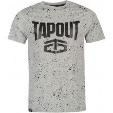Tapout Splatter T Shirt Mens Grey Marl