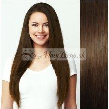 Stredne hnedé CLIP IN vlasy na predĺženie - 40-43 cm 01638bf0be8