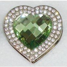 Háčik na kabelku Exclusive - Smaragd heart
