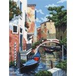 Kreatívny set na maľovanie na plátne Benátky