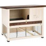 Ferplast Exteriérová drevená klietka pre zajaca RANCH 100 RESTYLING 95x64,5x84,5 cm