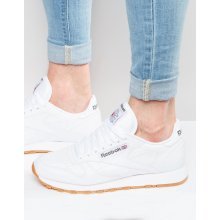 Reebok Classic Leather Mens Trainers in White Gum