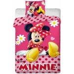 Jerry Fabrics obliečky Minnie pinkie dot bavlna 140x200 70x90