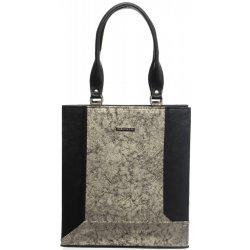 4a18436b86 Grosso vystužená elegantná kabelka S610 Čierno-zlatá alternatívy ...