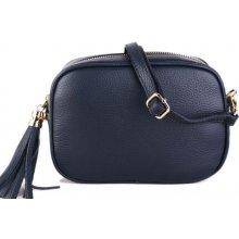 Talianske malé kožené kabelky dámske športové crossbody Kasandra modré 1ae295caa48