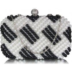 d6f5d3bb6f kabelka večerná clutch s perlami čierno-biela od 24
