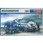 Stavebnice Monti 58 Actros L MB Helitransport v krabici 32x205x75cm 1:48
