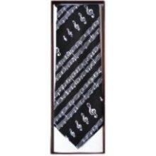 Bayer MG-366 kravata Notový zápis Černá