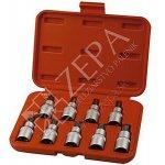 """Extol Premium Hlavice nástrčné 1/2"""", TORX T20-T60, sada 9ks, S2 (8818124)"""