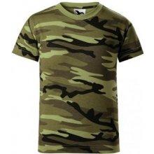 ADLER CAMOUFLAGE maskáčové detské tričko s krátkym rukávom Camouflage green