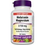 Webber Naturals WN Melatonin 3 mg + Horčík 150 mg 100 tabliet