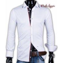 76d2c01945cc 40030-AD-238 Biela pánska košeľa ADRIANO CALITRI