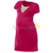 Johanka tehotenská dojčiace nočné košele krátky rukáv sýto ružová