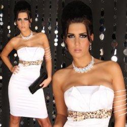 d809a053c81c Párty šaty s mašličkou biela od 37