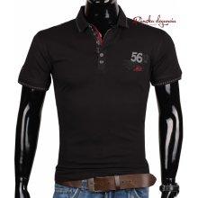 pánske tričko v športovom vzhľade s gombíkovou légou ETTE 6-8014