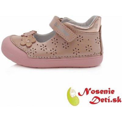 DD Step sandále balerínky kvetované ružové
