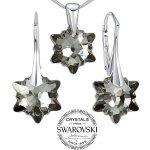 Silvego strieborný set šperkov sa Swarovski Crystals Edelweiss LSW186S