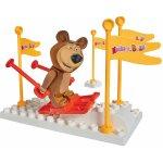PlayBIG Bloxx Máša a medveď Starter set Medveď lyžiar