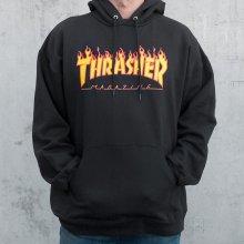 Thrasher Flame Hood Pánská mikina black