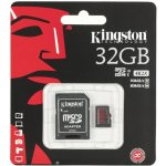 Kingston microSDHC 32GB UHS-I U3 + adapter SDCA3/32GB