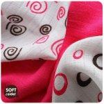 Kikko osuška Bambusová linie kolekce Spirals&Bubbles potisk 90x100 cm Magenta Spirals 2015