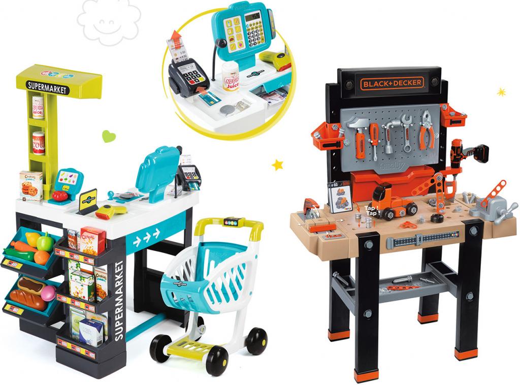 b7b9fc1f3 Smoby set pracovná dielňa pre deti Black and Decker elektronická a obchod  Supermarket s doplnkami od 129,59 € - Heureka.sk