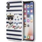 Púzdro Karl Lagerfeld Sailor Stripes TPU Case iPhone X čierne
