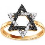 f8da68121 iZlato Forever Zlatý prsteň s čiernymi zirkónmi Dávidová hviezda IZ13791