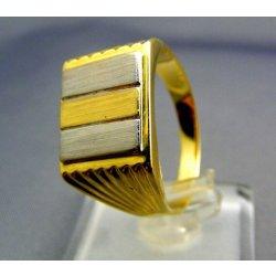 Zlatý pánsky prsteň viacfarebné zlato hranatý tvar VP68678V od 420 ... fd3877e3a33