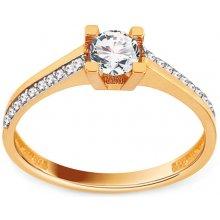iZlato Forever Zlatý zásnubný prsteň so zirkónmi Azaliya IZ12541 43525feabe9
