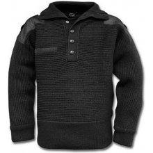 Rakúsky vlnený sveter čierny