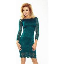 8d0cc1a89503 Dámske šaty Numoco 180-2 čipkované zelené Zelená