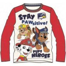Disney by Arnetta Chlapčenské tričko Paw Patrol - červené