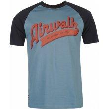 Airwalk Raglan T Shirt Mens Blue