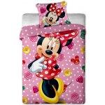 Jerry fabrics Obliečky Minnie 2015 micro ružová polyester 140x200 70x90