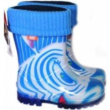 DEMAR Dievčenské gumáky Twister Lux Print HH zateplené Zebra b5ffe63f76e