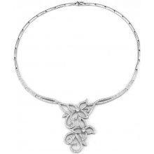 5e005f316 Luxusný strieborný náhrdelník MERCI s micro zirconia JJJN0346