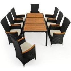 afdd3d87485e Záhradný ratanový nábytok Deuba - 8 polohovateľných stoličiek + stôl rt01