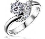 Silvego Stříbrný zásnubní prsten SHZR234