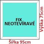 Soft Plastové okno 95x75 cm, FIX neotváravé