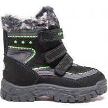 ALPINE PRO Chlapčenské zimné topánky Chrono čierno-zelené 6e38f30a1c7