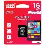 Goodram microSDHC 16GB UHS-I U1 + adapter M1AA-0160R11