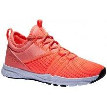 1115c984e6b1c DOMYOS dámska obuv 120 na kardio fitness oranžová
