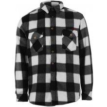 Lee Cooper Polyester Fleece Check Shirts Mens