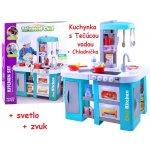 21d42e7b454d JOKO Veľká Detská kuchynka s chladničkou rúrou tečúcou vodou zvukom modrá