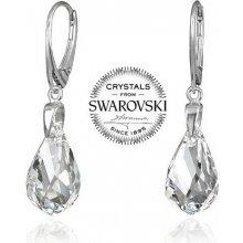 Swarovski Elements Strieborné náušnice Helix Crystal vyrobené so LSW143E ee57f838b09