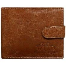 Always Wild Pánska kožená peňaženka Moon hnedá 9a3e0a1004c